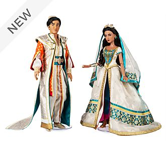 Disney Store Princess Jasmine and Aladdin Limited Edition Doll Set