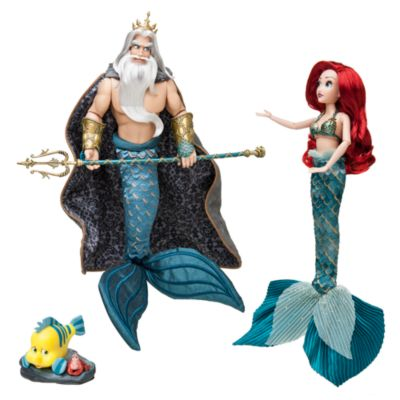 Disney Designer Collection Ariel and King Triton Dolls