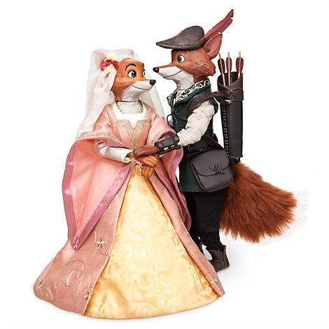 Robin Hood und Maid Marian Puppen der Disney Designer Collection