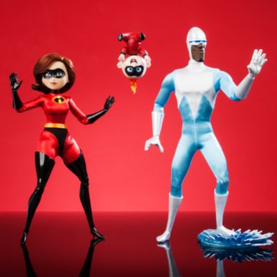 Set bambole in edizione limitata Elastigirl, Jack-Jack e Siberius Gli Incredibili 2