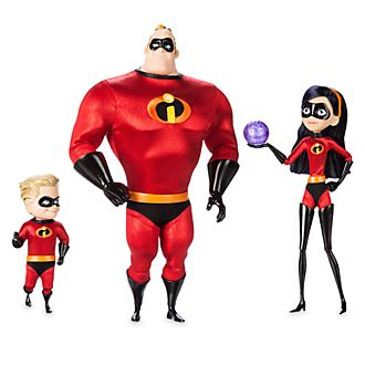 Disney Store Mr Incredible, Violet, and Dash Limited Edition Doll Set, The Incredibles 2