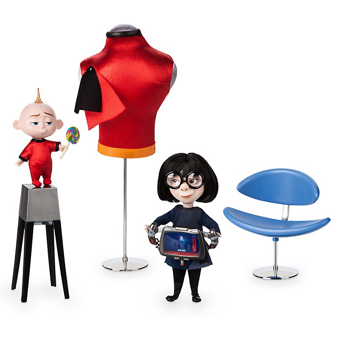 Disney Store - Die Unglaublichen 2 - The Incredibles 2 - Edna und Jack Jack - Puppenset in limitierter Edition