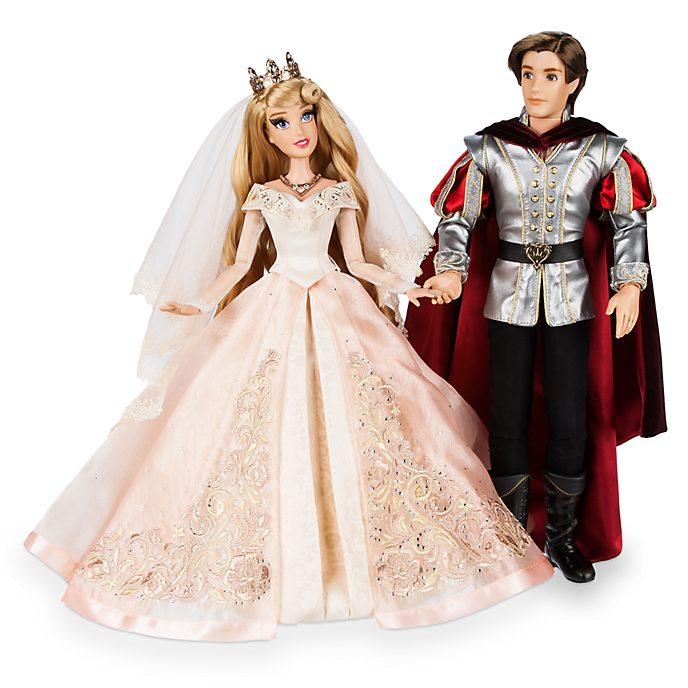 Disney Store Coffret de poupées en édition limitée Aurore et Prince Philippe