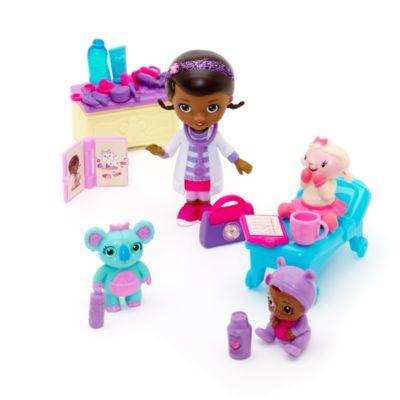 Set da gioco con mini personaggi Dottoressa Peluche e Baby Cece