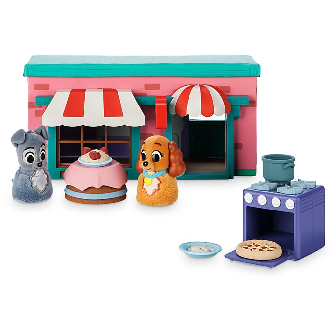 Disney Store Tony's Restaurant Furrytale Friends Deluxe Playset