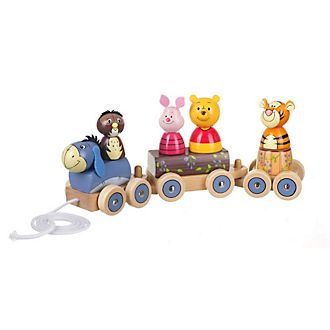 Train en bois Winnie l'Ourson