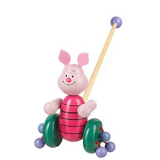 Piglet Wooden Push Along Toy
