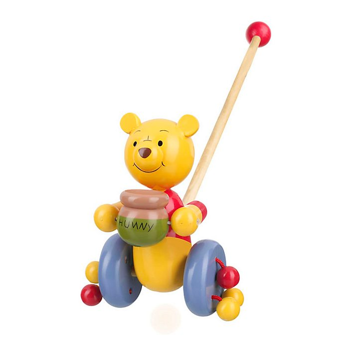 Juguete de empuje en madera Winnie the Pooh