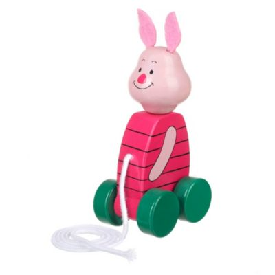 Piglet Wooden Pull Along Toy