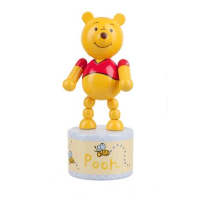 Winnie the Pooh Wooden Push Up Toy