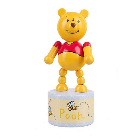 Figurine à poussoir en bois Winnie l'Ourson