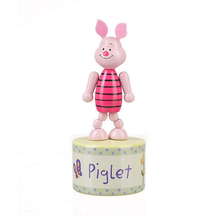 Figurine à poussoir en bois Porcinet