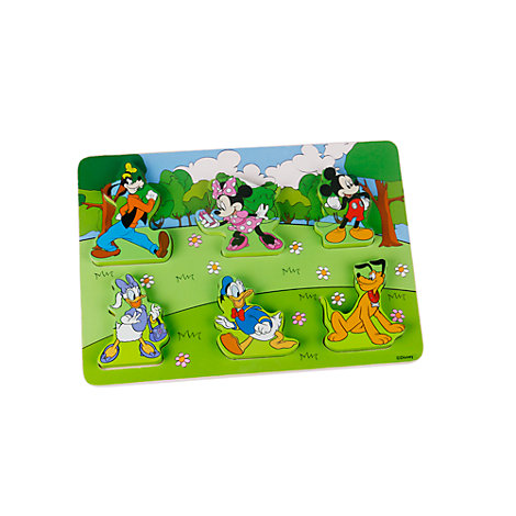 Puzle madera para bebé Mickey y sus amigos