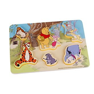 Puzzle en bois Winnie l'Ourson et ses amis pour bébé