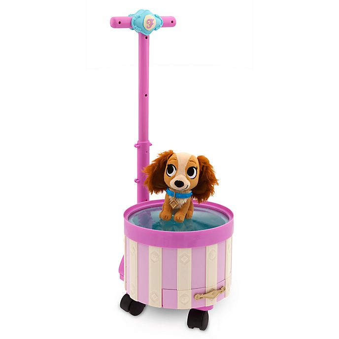 Disney Store Lady Furrytale Friends Pet Carrier And Grooming Set