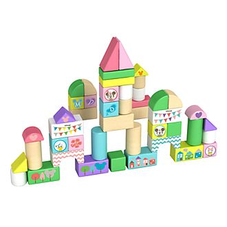 Juego de bloques de 50 piezas de madera de Mickey y sus amigos