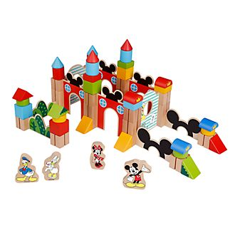 Be-Imex Mickey and Friends Wooden Blocks, Set of 60