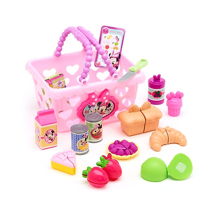 Disney Store Minnie Mouse Shopping Basket Playset