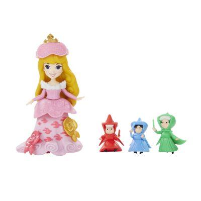 Ensemble mini poupée Le conte de fée d'Aurore, La Belle au Bois Dormant