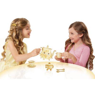 Juego de té de objetos encantados de La Bella y la Bestia