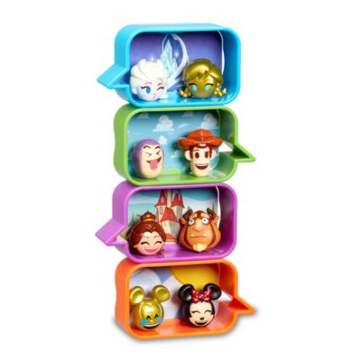 Set de caja sorpresa con 2 figuras coleccionables tipo emoji de la colección #ChatBubble