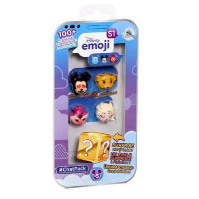 Eksklusiv Disney Emoji #ChatPack, sæt med 4 stk.