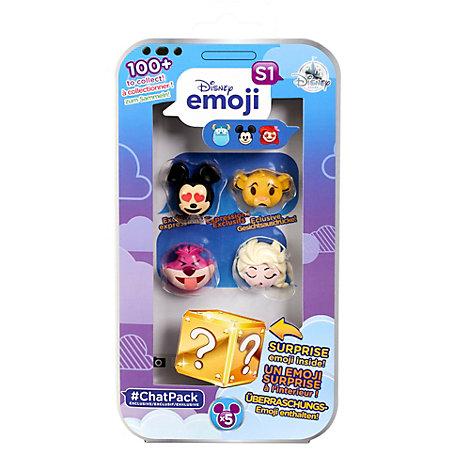 Set exclusivo de 4 figuras tipo emoji de la colección #ChatPack