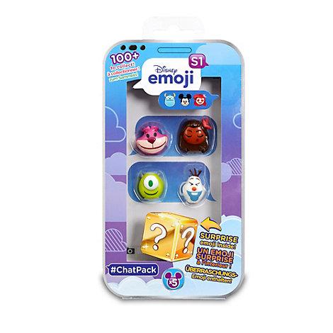 Set de 4 personajes sorpresa de la colección de emojis #ChatPack de Disney