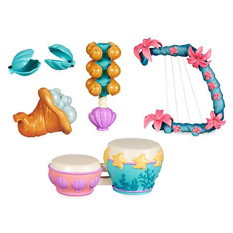 Set instrumentos musicales La Sirenita