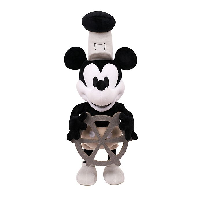 Steamboat Willie 90th Anniversary Feature Soft Toy