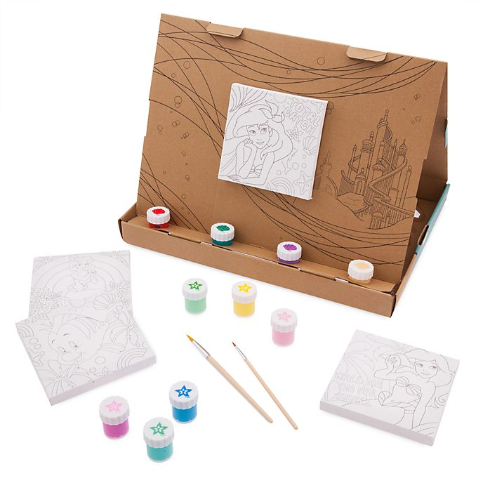 Disney Store Ariel Canvas Paint Set