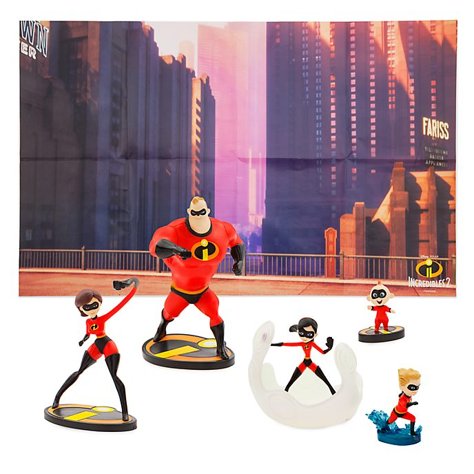 Disney Store The Incredibles Figurine Playset