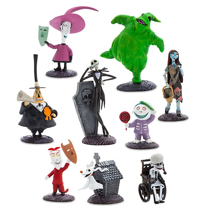 Disney Store The Nightmare Before Christmas Deluxe Figurine Playset