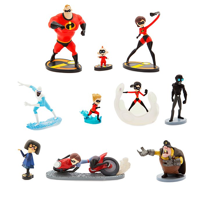 Disney Store Incredibles 2 Deluxe Figurine Playset