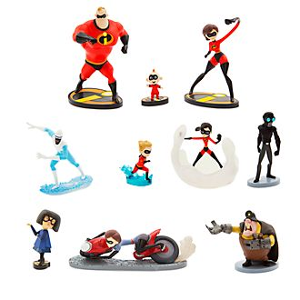 Disney Store Ensemble de figurines de luxe Les Indestructibles 2
