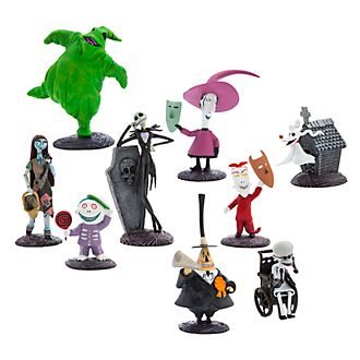disney store the nightmare before christmas deluxe figurine playset - Nightmare Before Christmas Characters