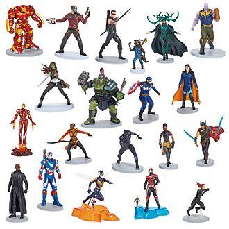Megaset juego figuritas 10 aniversario Marvel, Disney Store