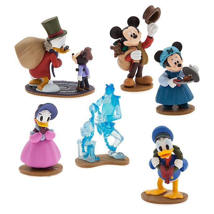 Disney Store Mickey's Christmas Carol Figurine Playset