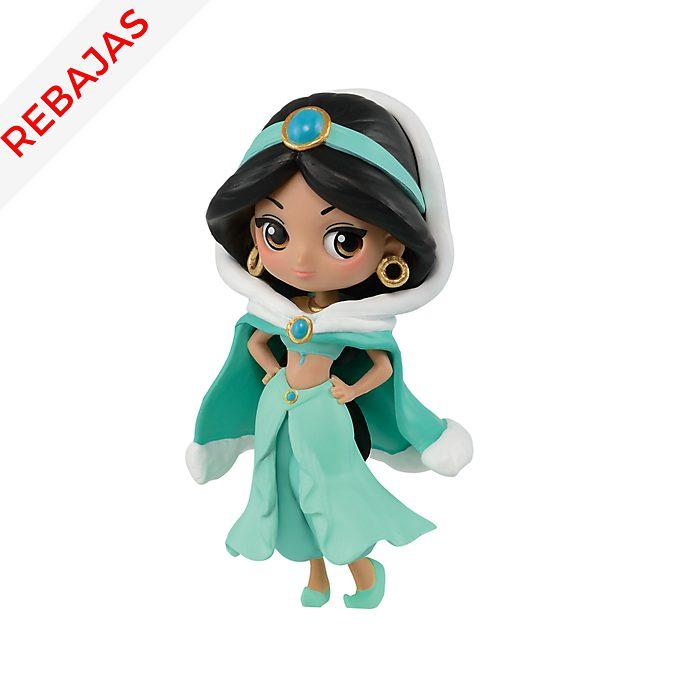 Figurita princesa Jasmine de niña vestido invierno, Q Posket, Banpresto