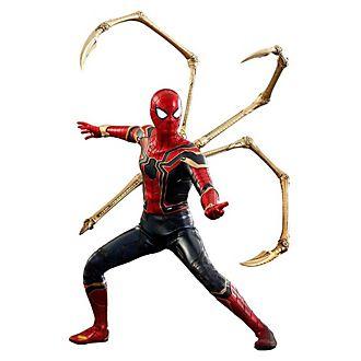 Figura coleccionable Iron Spider, Vengadores: Infinity War, Hot Toys