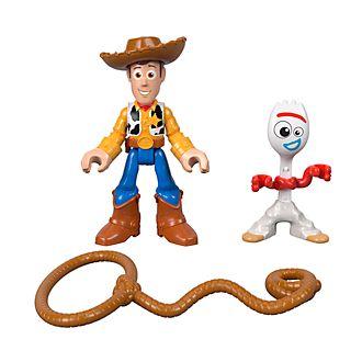 Figuras de acción Woody y Forky, Toy Story4, Imaginext