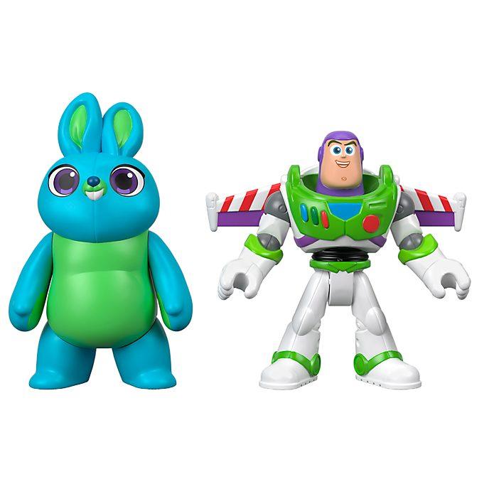 Imaginext Duo de figurines Buzz l'Éclair et Bunny articulées, Toy Story4