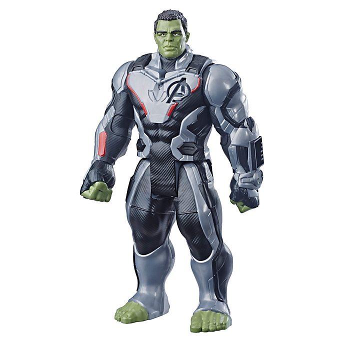 Figura acción Hulk, Vengadores: Endgame, Titan Hero Power FX, Hasbro