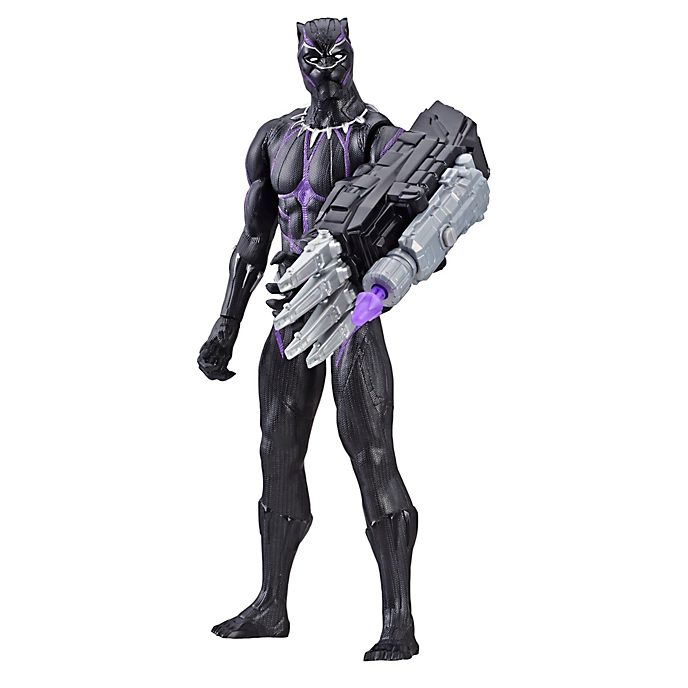Figura acción Black Panther, Titan Hero Power FX, Hasbro