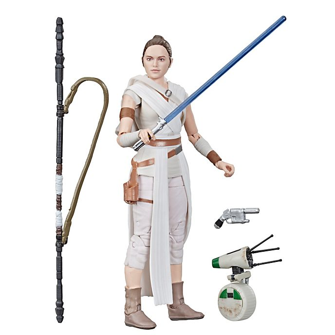 Hasbro Figurine Rey et D-O15cm, Star Wars: The Black Series