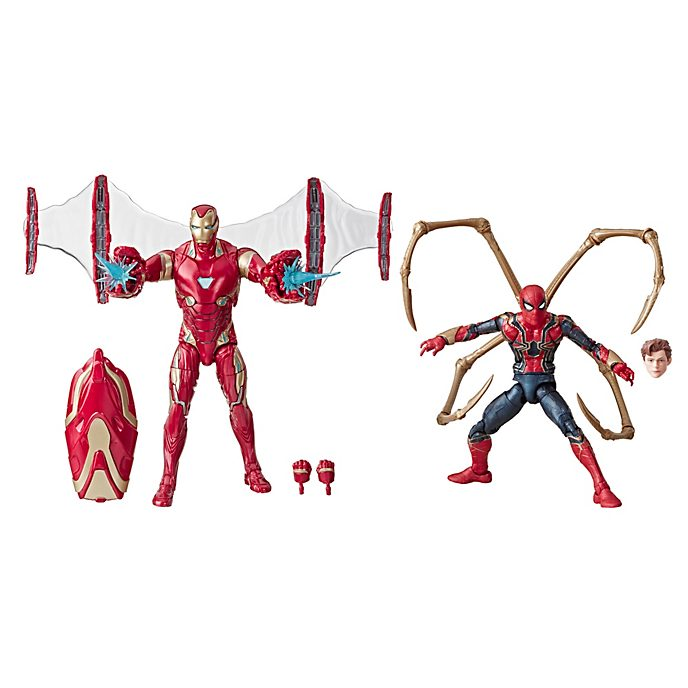 Set figuras de acción Iron Man y Iron Spider, Legends, Hasbro (15 cm)