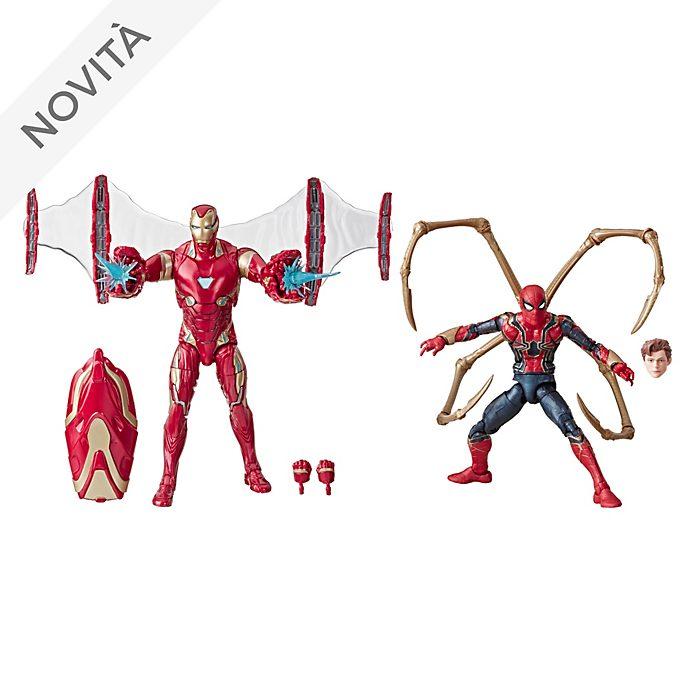 Set di action figure 15 cm Iron Man e Iron Spider serie Marvel Legends Hasbro