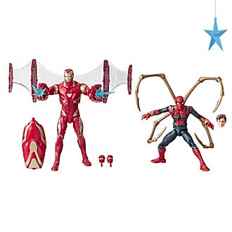 Set di action figure 15 cm Iron Man e Iron Spider serie Marvel Legends Hasbro