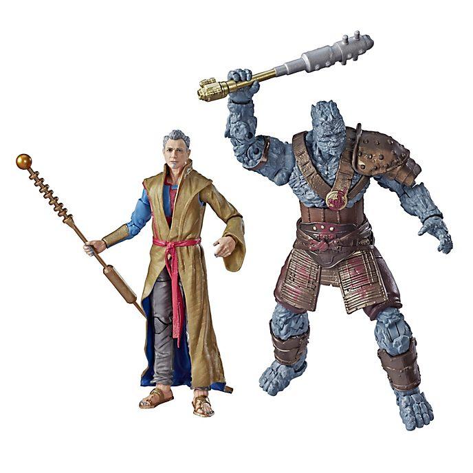 Hasbro Duo de figurines Le Grand Maître et Korg articulées 15cm, Marvel Legends