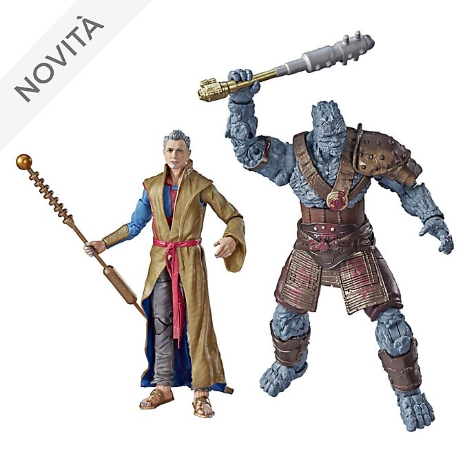 Set di action figure da 15 cm Gran Maestro e Korg serie Marvel Legends Hasbro